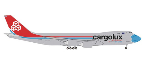 Herpa Wings Cargolux Boeing 747-8F - LX-VCF Not Without My Mask Scale 1/500 534895