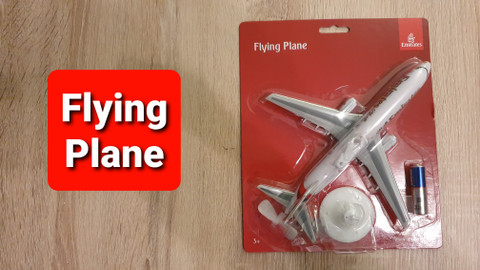 Premier Portfolio Emirates Flying Plane 21cm long