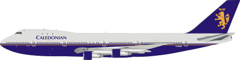 Inflight 200 Caledonian Airways Boeing 747-200 G-BMGS with stand Scale 1/200 IF742CA0319