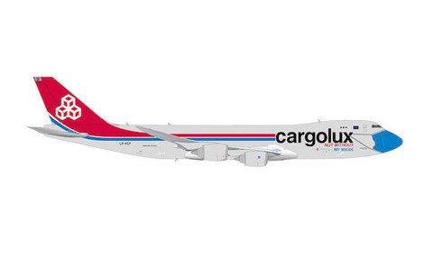 Herpa Wings Cargolux Not without my mask Boeing 747-8F Scale 1/200 571272