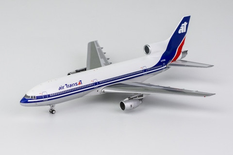 NG Model Air Transat 1980s colors; silver belly  Lockheed L1011-1 C-FTNC Scale 1/400 NG31019