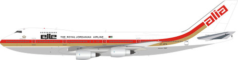 Inflight 200 Alia Royal Jordanian Airline Boeing 747-200 JY-AFA with stand Scale 1/200 IF742RJ1218P