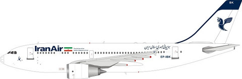WB Models Iran Air Airbus A310-304 EP-IBK with stand Scale 1/200 WB310IR0820