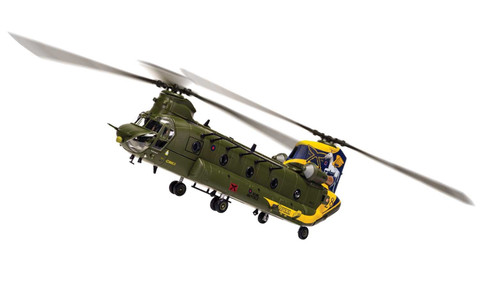 Corgi aviation Boeing Chinook HC.4 ZH777 - RAF No. 28 Squadron Centenary scheme - RAF Benson - Oxfordshire - 7th April 2016 Scale 1/72 AA34216