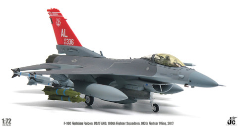 JC Wings F-16C Fighting Falcon USAF ANG, 160th Fighter Squadron Scale 1/72 JCW72F16009