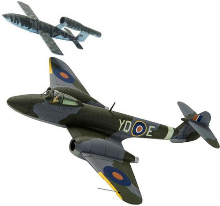 Corgi Gloster Meteor F.1 EE216 T.D. Dixie Dean RAF No.616 Sqn and V-1 Doodlebug Scale 1/72 AA27403