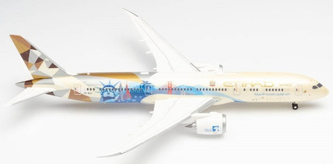 Herpa Wings Etihad Choose the USA Boeing 787-9 Dreamliner A6-BLE Scale 1/200 571340