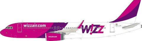 nflight 200 Wizz Air Airbus A320-200 HA-LYF with stand Scale 1/200 IF320W60421