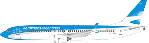 Inflight 200 Aerolineas Argentinas Boeing 737 MAX 8 LV-GVD with stand Scale 1/200 IF73MLV1020
