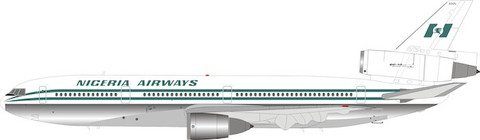 Inflight 200 Nigeria Airways Douglas DC10-30 5N-ANN with stand Scale 1/200 IFDC10WT0920P