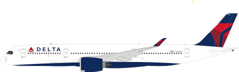 WB Models Delta Airlines Airbus A350-941 N508DN flaps down with stand Scale 1/200 WB359DL508D
