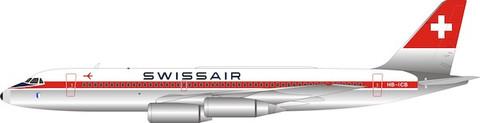 WB Models Swissair Convair CV990A Coronado HB-ICB with stand Scale 1/200 WB951HA649