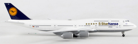 J Fox Lufthansa Boeing 747-230BM D-ABYM with Stand Scale 1/200 JF7472023