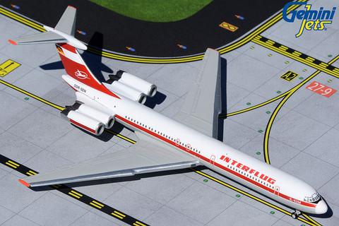 Gemini Jets Interflug IL62M DDR-SEN Scale 1/400 GJIFL1801