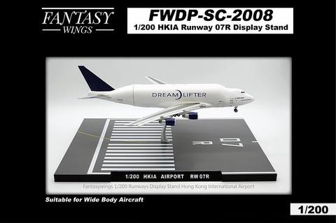 Fantasy Wings Hong Kong Airport Runway 07R Display Stand Scale 1/400 FWDP-SC-2008