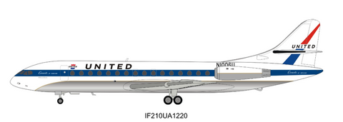Inflight 200 United Caravelle SUD SE 210 VI R N N1006U With Stand with stand Scale 1/200 IF210UA1220