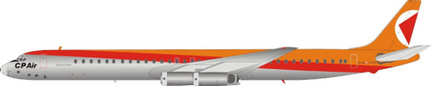 Inflight 200 CP-Air Douglas DC-8 Series 63 C-FCPO with stand Scale 1/200 IFDC863CP0119P