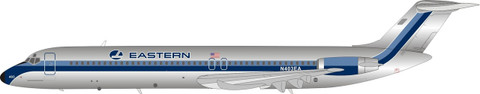 Inflight 200 Eastern Airlines DC-9 Series 51 with stand Scale 1/200 IFDC951EA0820P
