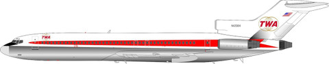 Inflight 200 TWA Boeing 727-100 N12304 with stand Scale 1/200 IF722TW0120W