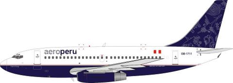 El Aviador Models AeroPerú Boeing 737-200 OB-1711 with stand Scale 1/200 EAV1711