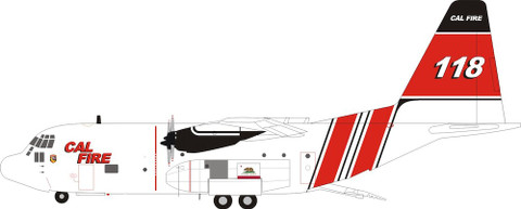 Inflight 200 Lockheed Hercules C130H (L-382) Cal Fire N118Z with stand Scale 1/200 IF130CALF118