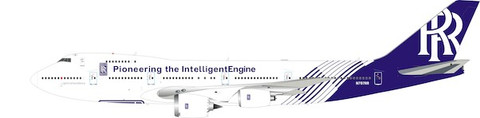 Inflight 200 Rolls-Royce Boeing 747-200B N787RR with stand Scale 1/200 IF742RR787