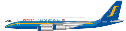 Inflight 200 Ports of Call Denver Convair CV990 with stand Scale 1/200 IF990P0CD10