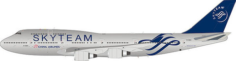 Aviation 200 China Airlines Skyteam Boeing 747-400 B-18211 with stand Scale 1/200 AV2ALB2CI211