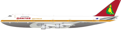 Inflight 200 Qantas Boeing 747-200 VH-EBM Polished stand Scale 1/200 IF742QF0721P