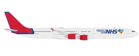 Herpa 500 Maleth Aero Protect Our NHS Airbus A340-600 Scale 1/500 535496