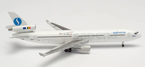 Herpa 500 Sabena McDonnell Douglas MD11 OO-CTC Scale 1/500 535588