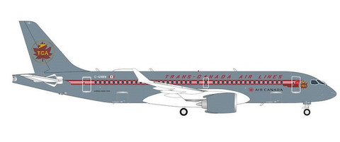 Herpa Wings Air Canada Trans Canada Airlines retro livery Airbus A220-300 C-GNBN Scale 1/200 571593