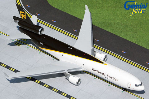 Gemini 200 UPS World Services McDonnell Douglas MD-11F N281UP Scale 1/200 G2UPS977