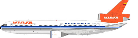 Inflight 200 Vissa Polished DC-10 Series 30 YV-138C with stand Scale 1/200 IFDC10VA0921P