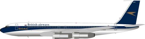 ARD200 British Airways Boeing 707-336C G-AXGW with stand Scale 1/200 ARDBA28