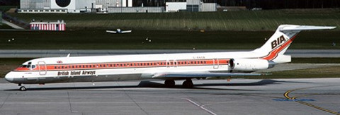 JC Wings British Island Airways MD-83 G-BNSB Scale 1/200 JCLH2321