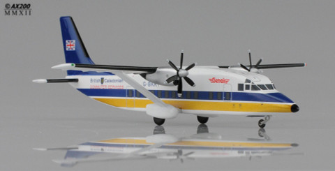 JC Wings British Caledonian Small Flag Short 360-100 G-BKKT with stand Scale 1/200 JC2536