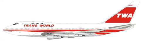 Inflight 200 TWA Boeing 747SP N57203 with stand Scale 1/200 IF747SPTW1221