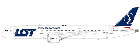 JC Wings LOT Boeing 787-9 Dreamliner SP-LSB with Stand Scale 1/200 JC2142