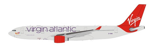 WB Models Virgin Atlantic Airbus A330-200 G-VMIK with stand Scale 1/200 WBVR332IK