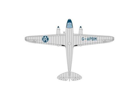 Oxford Diecast RAC Aerial Patrol Dragon Rapide G-APBM Scale 1/72 OX72DR009
