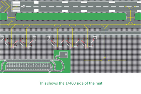 Airport Layout Mats 1:400 and 1:200  on the reverse