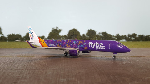 Herpa FlyBe Welcome to Yorkshire  Embraer E195 Scale 1/200 558297