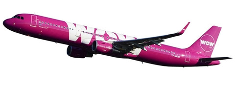 Herpa Wings Wow Air Airbus A321 Scale 1/200 611299