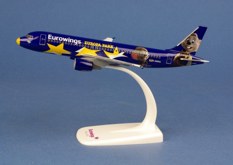 """Herpa Wings Eurowings Airbus A320 """"Europa-Park"""" - D-ABDQ Scale 1/200  611695"""
