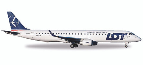 Herpa  LOT Polish Airlines Embraer E195 - SP-LNF Scale 1/500