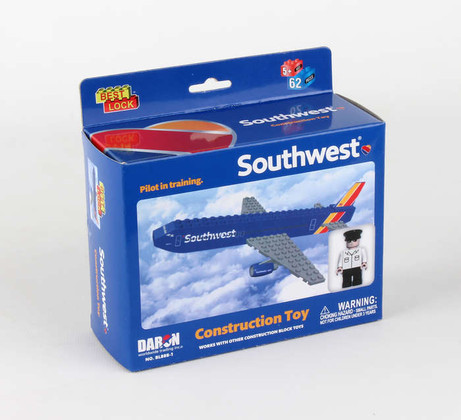 SOUTHWEST 55 PIECE CONSTRUCTION TOY HEART LIVERY BL888-1