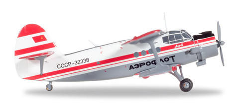 Herpa Aeroflot Polar Aviation Antonov AN-2 CCCP-32338 Scale 1/200 558587