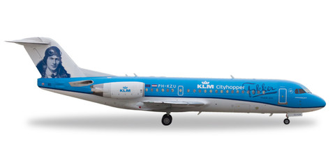 "Herpa KLM Cityhopper Fokker 70 ""Fokker, Thank you"" - PH-KZU Scale 1/200 558761"
