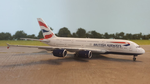 Gemini Jets British Airways Airbus A380-800 G-XLEC Scale 1/400 GJBAW1679